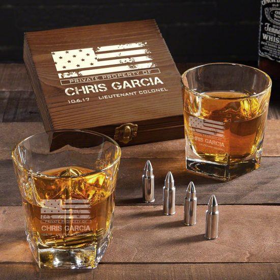 Engraved Whiskey Stone Set