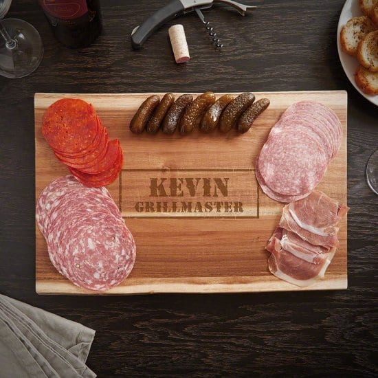 Manly Charcuterie One of the Best Personalized Cutting Boards