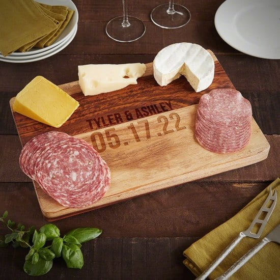 Personalized Hardwood Charcuterie and Cheese Board