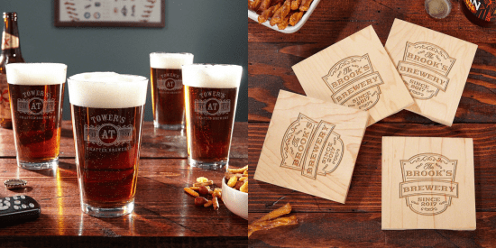 Glasses and Coasters Beer Gift Ideas