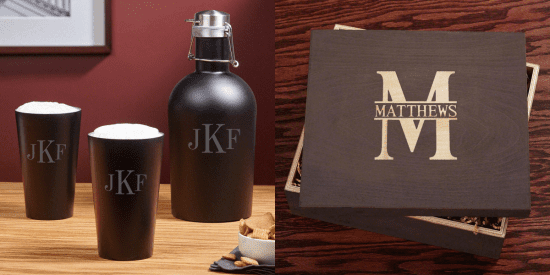 Engraved Growler Set and Gift Box