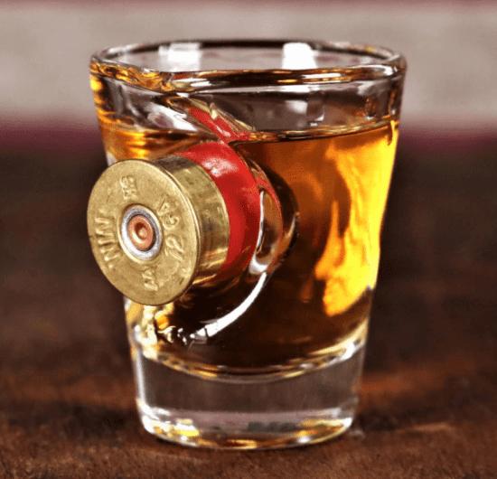 Shotgun Shell Shot Glass