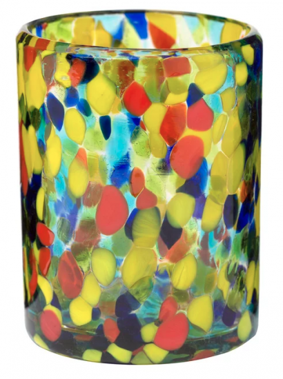 Multicolored Lowball Glass