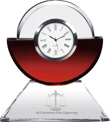 Crystal Clock Lawyer Gift