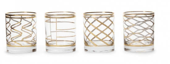 Art Deco Gold Accent Glasses
