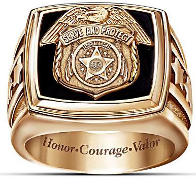 Gold Police Officer Ring