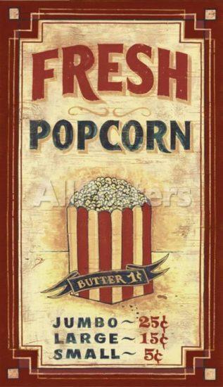 Vintage Popcorn Poster