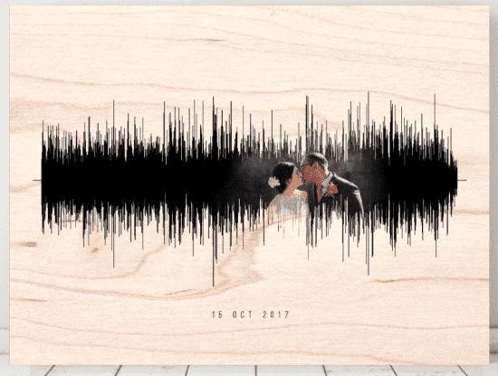 Soundwave Sign on Wood