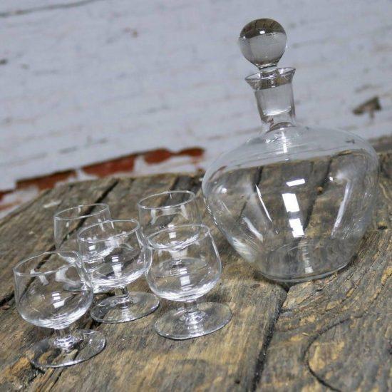 Vintage Decanter Whiskey Set