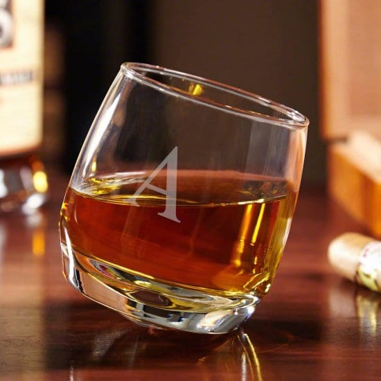 Initialed Roly Poly Whiskey Glass