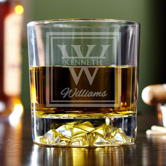 Classy Personalized Whiskey Tumbler
