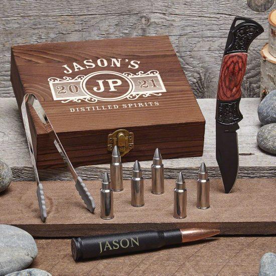 Customized Bullet Whiskey Stones Set