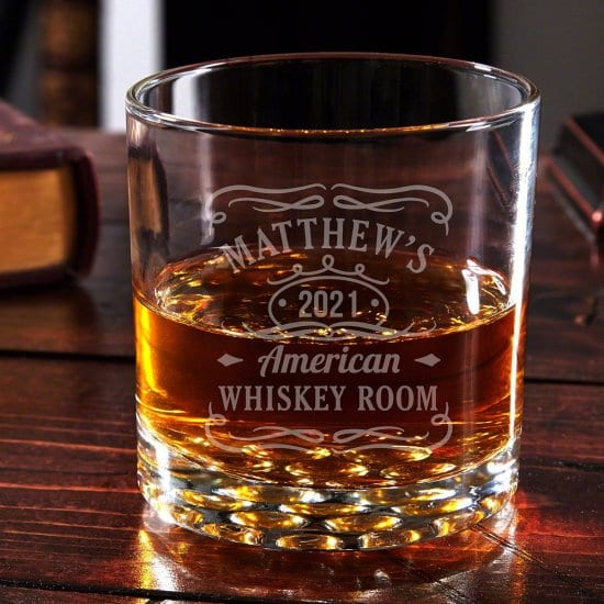 Engraved Tennessee Whiskey Tumbler Glass