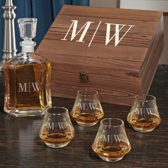 Whiskey Box Set Personalized Anniversary Gifts