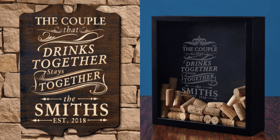 DIY Drink Together Sign and Shadow Box