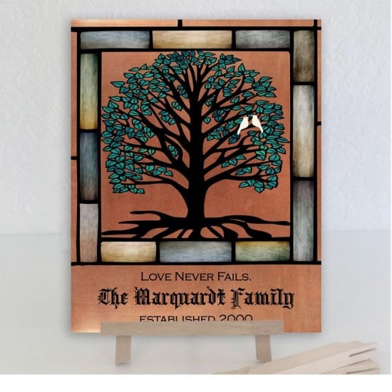 Metal Family Tree Sign