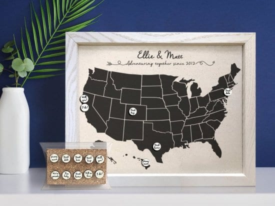 Milestone Map Unique Anniversary Gifts
