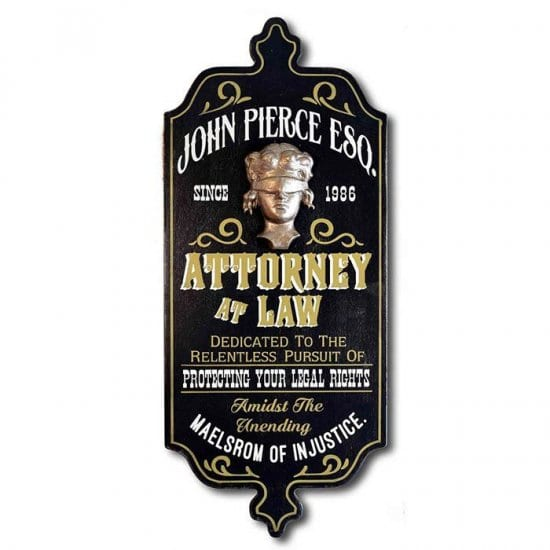 Personalized Vintage Lawyer Sign
