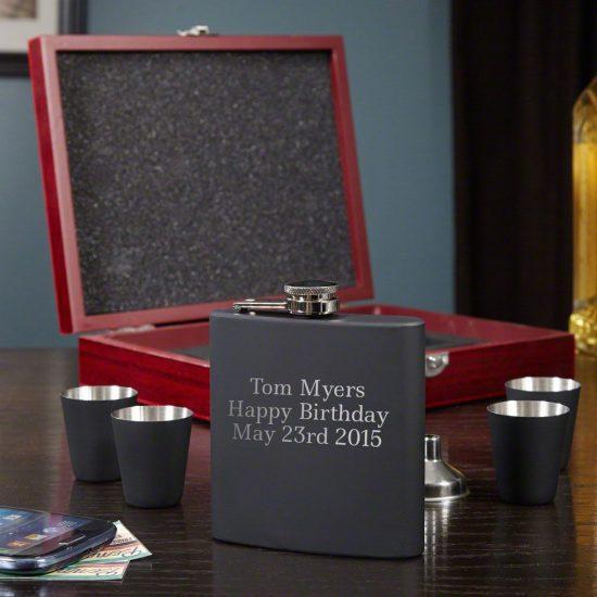 Engraved Flask Gift Set