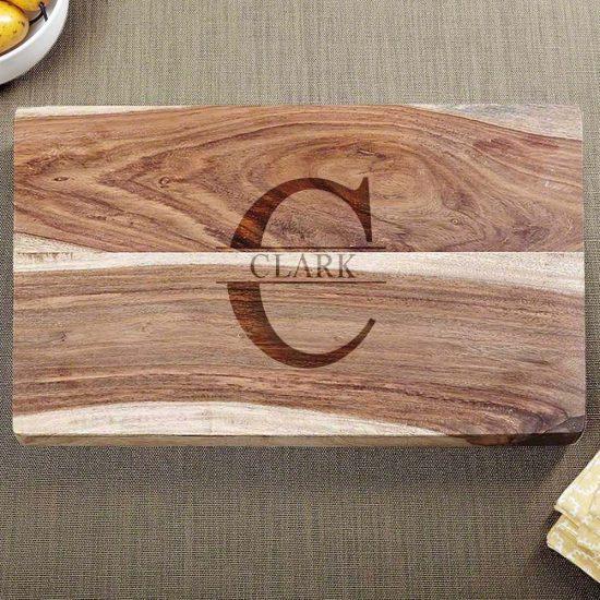Engraved Hardwood Cutting Board
