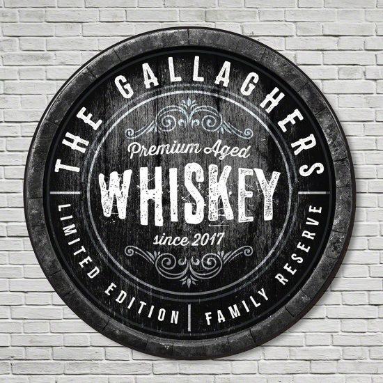 Custom Whiskey Sign Gift for Whiskey Drinkers