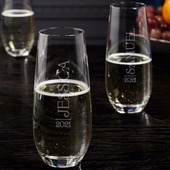 Personalized Champagne Flutes Set of 2
