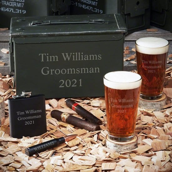 Custom Ammo Can Beer Glassware Set