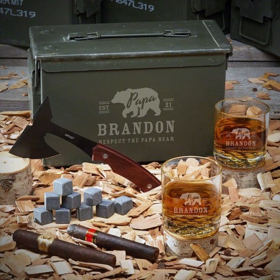 Engraved Ammo Can Whiskey Set