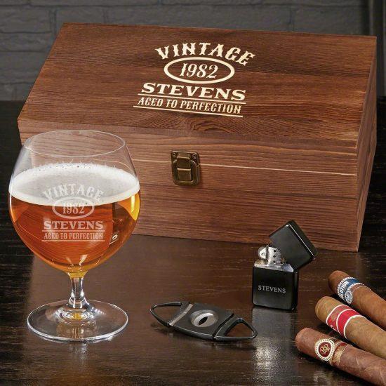 Custom Craft Beer and Cigar Box Set