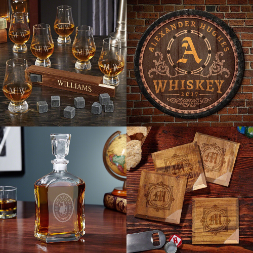 Unique Set of Bourbon Gifts