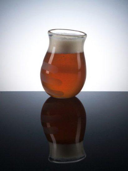 Hand Print Beer Glass