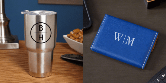 Tumbler and Business Card Holder Gifts for Professionals