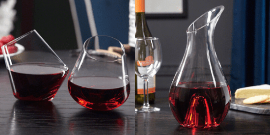 Rolling Wine Glass and Decanter Set