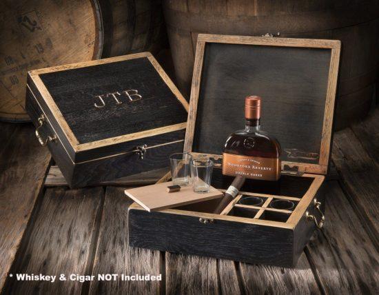 Wooden Whiskey Celebration Box