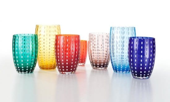 Colorful Glassware Set of 6