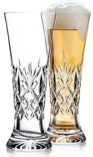 Crystal Cut Pilsner Glasses