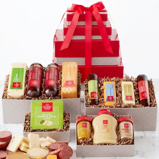 Gourmet Meat and Cheese Gift Tower