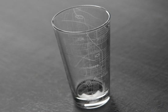 Home Town Map Glass