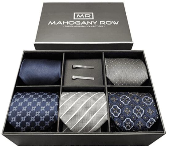Tie Assortment with Tie Bars