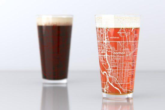 Map Pint Glass