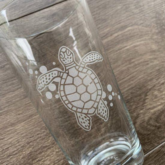 Turtle Pint Glass