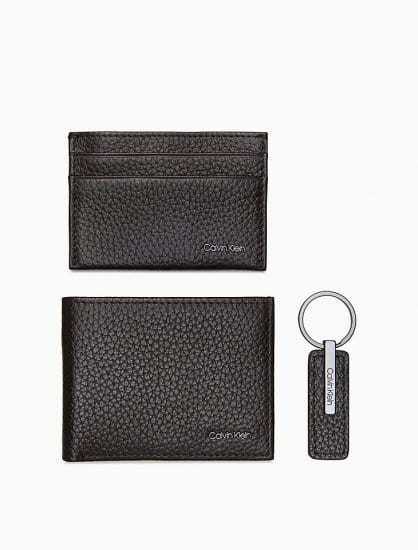 Leather Wallet Gift Set