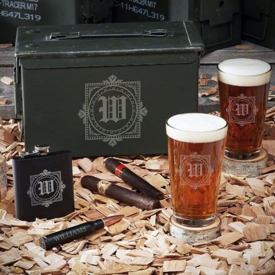 Personalized Ammo Can Gift Set with Pint Glasses