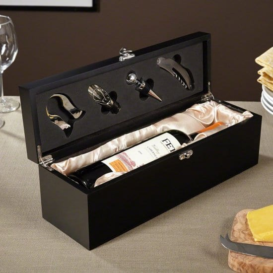 Personalized Wine Box and Tool Kit Engagement Gift