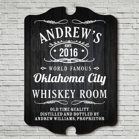Custom Whiskey Room Sign