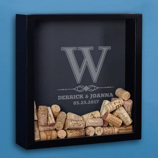 Engraved Wine Cork Shadow Box