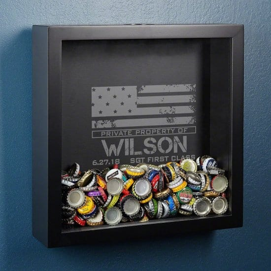 Patriotic Shadow Box for Keepsakes