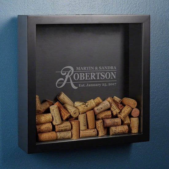 Family Name Wine Cork Shadow Box