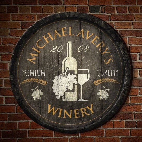Personalized Winery Decor Sign
