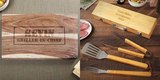 Custom Cutting Board and BBQ Tool Set